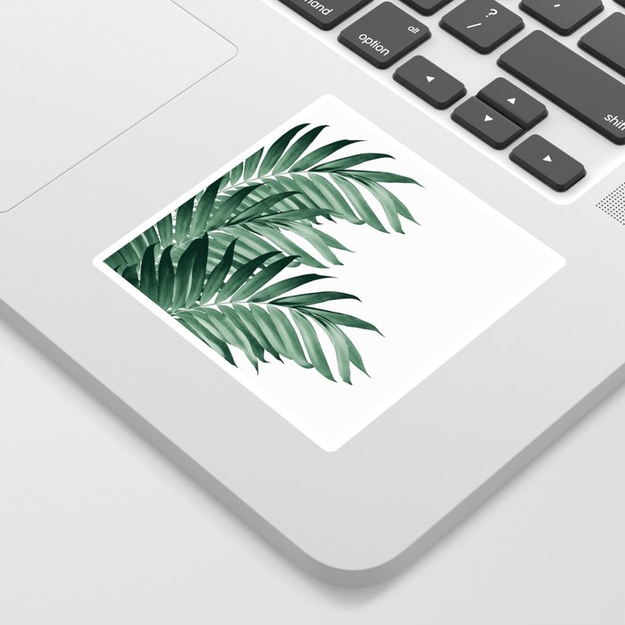 Palm Leaves Tropical Green Vibes #3 #tropical #decor #art #society6 Sticker