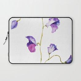 two elegant sweet peas flower Laptop Sleeve