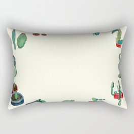 Clock Cactus Rectangular Pillow
