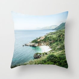 Beach - Landscape and Nature Photography Throw Pillow