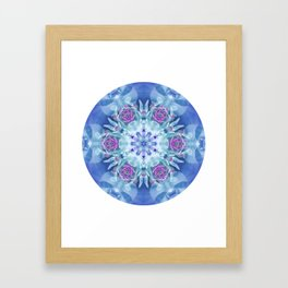 Royal Blue and Purple Mandala Framed Art Print