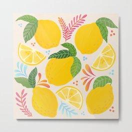 Lemon Lemonade Lovers // Fresh Fruits // Juicy Fruit Metal Print