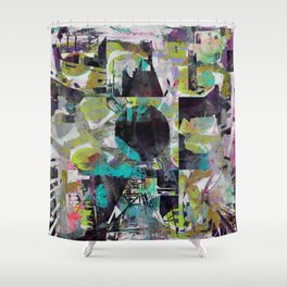 Infectious Infrastructure Shower Curtain