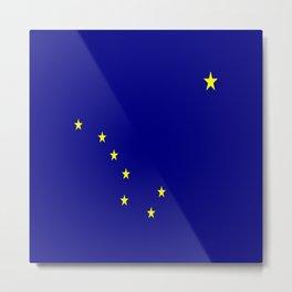 flag of alaska,america,usa,ice, north,Midnight Sun,Alaskan,Anchorage,Fairbanks,Juneau Metal Print