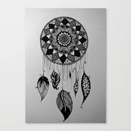 catch your dreams - pattern art Canvas Print