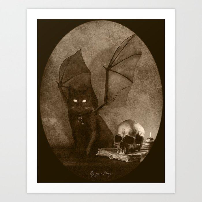 Dark Victorian Portrait: The Familiar Art Print