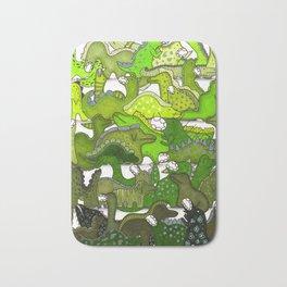 Green Dinosaur Gradient Bath Mat