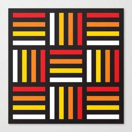Geometric Pattern #166 (red yellow stripes) Canvas Print