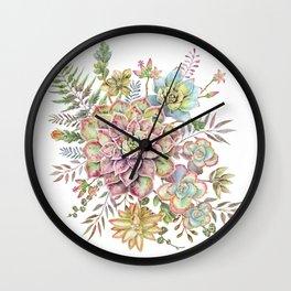 Watercolor Succulent #72 Wall Clock