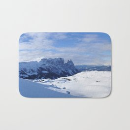 Mountains in South Tyrol Italy Schlern and Alpe di Siusi Bath Mat