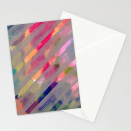 Ribbon Party - Gray and Rainbow Stripe Palette Stationery Cards