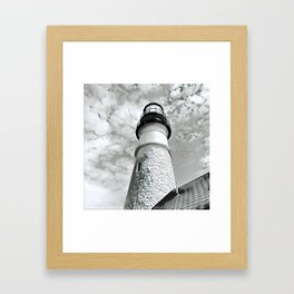 Lighthouse in Maine Framed Art Print