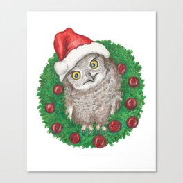 Owl I Want For Christmas Canvas Print