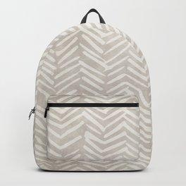 Natural, Boho, Herringbone, Mudcloth Backpack