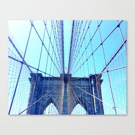 BROOKLYN BRIDGE - LIGHTER Canvas Print