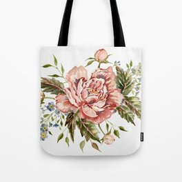 Pink Wild Rose Bouquet Tote Bag