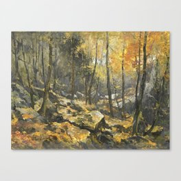 Autumn Forest Painting Canvas Print