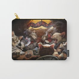 Cats play poker Carry-All Pouch