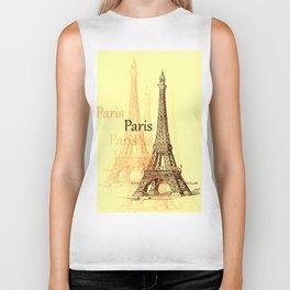 Eiffel Tower, Paris France Biker Tank