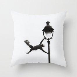 Paris Street Performer Throw Pillow