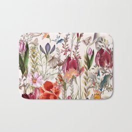 Bright spring field. Romantic pattern Bath Mat