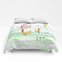 Farmer Pickle's Chickens Comforters