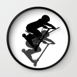 Scooter Boy - Stunt Scooter #5 Silhouette Wall Clock