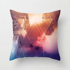 Urban Future Throw Pillow