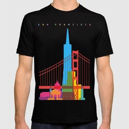 Shapes of San Francisco. Accurate to scale T-shirt