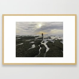 San Elijo Low Tidejo Framed Art Print