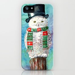 Snowman Owl iPhone Case