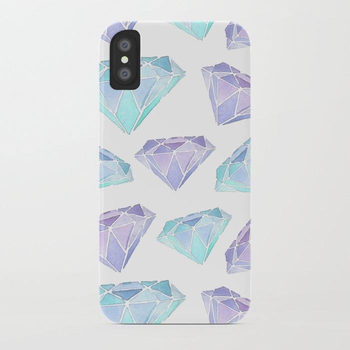 Watercolour Diamond Pattern iPhone Case