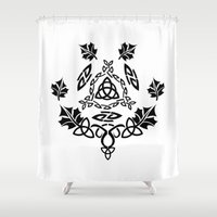 celtic Shower Curtains featuring Celtic Design by Spiro Vasilevski