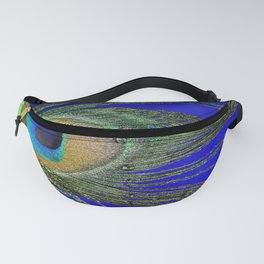 Peacock Feather Macro Fanny Pack