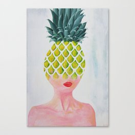 Pineapple Tranformation Canvas Print