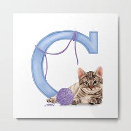 C is for Cat Metal Print