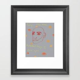 Pretentious Framed Art Print