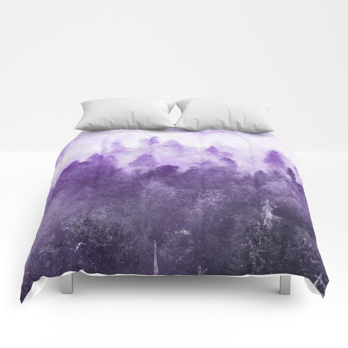 Ultra Violet Adventure Forest Comforters