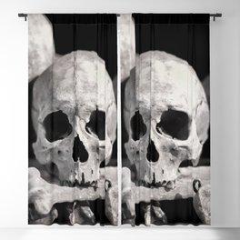 Skulls And Bones Blackout Curtain
