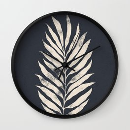 Botanical Tropical Branch 02 - Ivory & Inkwell Wall Clock