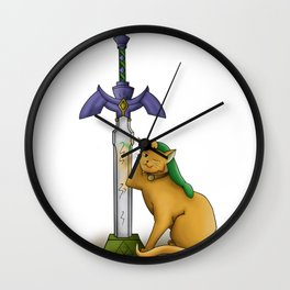Meowsters Sword Wall Clock