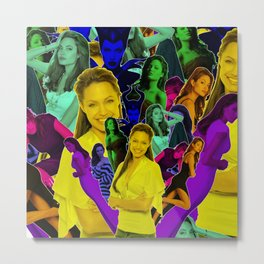Angelina Jolie - Celebrity Collage Art Metal Print