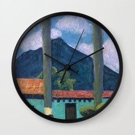 Antigua Park Bench Wall Clock