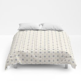 Anchors and Hearts Comforters