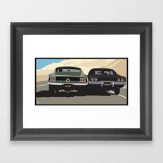 Bullitt chase Framed Art Print