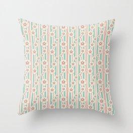 Deco Daisies Throw Pillow