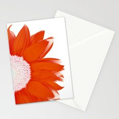 portrait of summer - red white Stationery Cards
