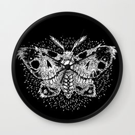 Deathwing Moth Wall Clock