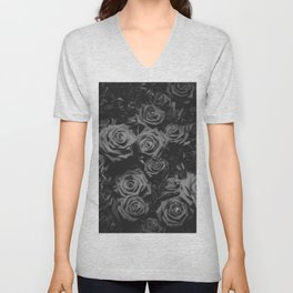 The Roses (Black and White) Unisex V-Neck