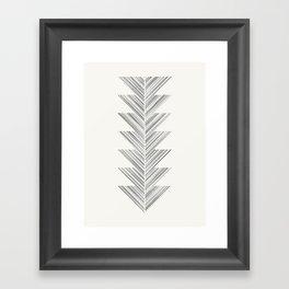 Herringbone Arrow - Steel Framed Art Print